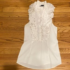 Playful white cotton blouse